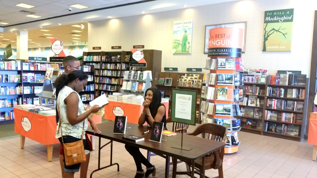 In awe at Barnes & Noble book signing event