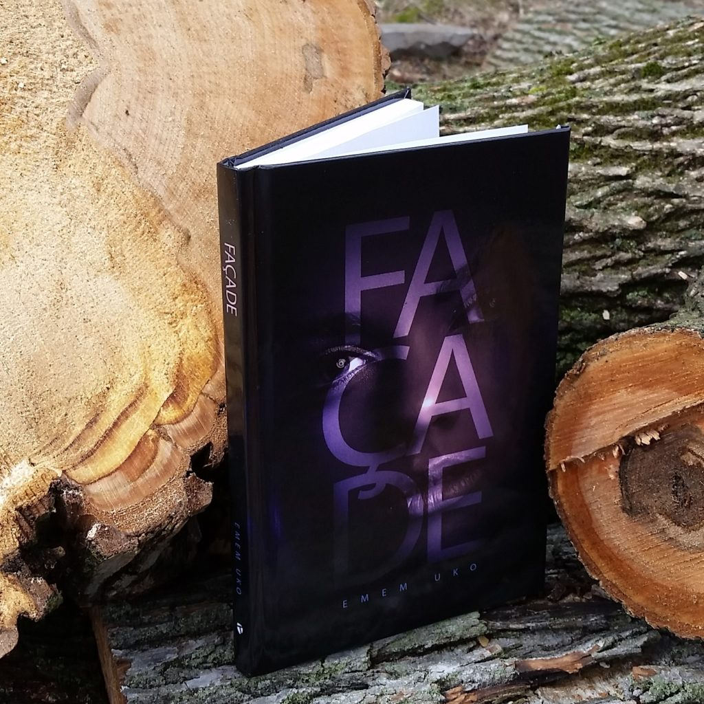 Hardcover of Facade on display